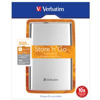 Verbatim Store 'n' Go external hard drive 500 GB Silver