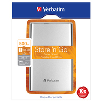 Verbatim Store 'n' Go 500GB Silver external hard drive