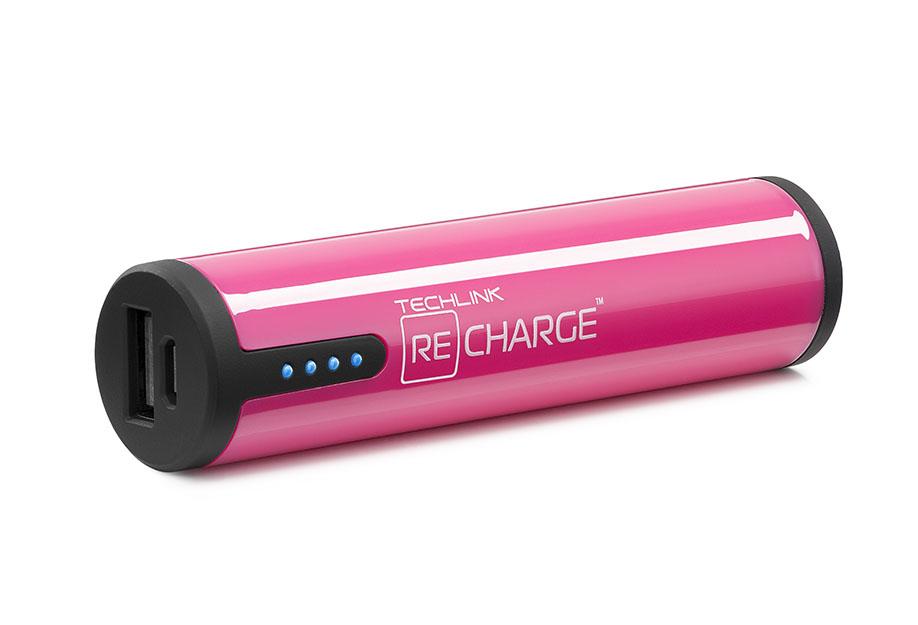 Techlink RC2600 power bank Black,Pink Lithium-Ion (Li-Ion) 2600 mAh