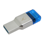Kingston Technology MobileLite Duo 3C Kartenleser Blau, Silber USB 3.2 Gen 1 (3.1 Gen 1) Type-A/Type-C