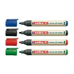 Edding EcoLine 21 permanent marker Black,Blue,Green,Red 4 pc(s)