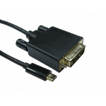 Cables Direct USB C to DVI 4k @ 30HZ 2 m Black