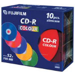 Fujifilm CD-R 700MB 52x, 10-Pk Slimcase