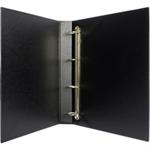 White Box WB PRES BINDER 4 D RING BLACK 25MM