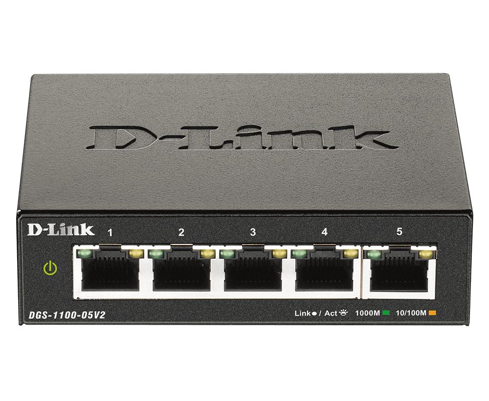 D-Link DGS-1100-05V2 switch Gigabit Ethernet (10/100/1000) Negro