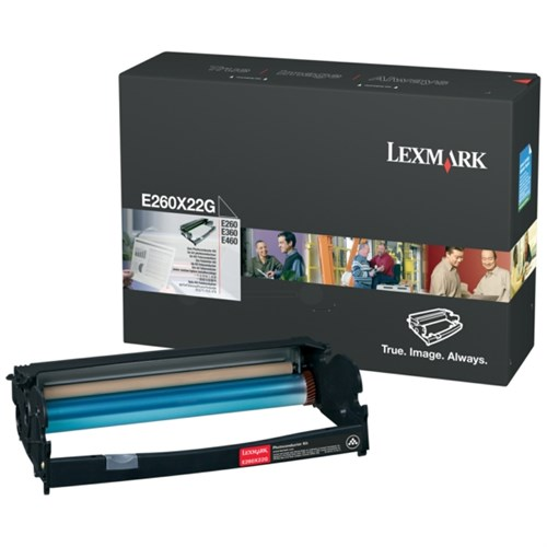 Lexmark E260X22G Drum kit, 30K pages @ 5% coverage