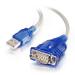 C2G Cable adaptador USB a serie DB9 de 0,45 m