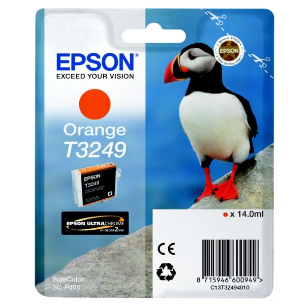 Epson C13T32494010 (T3249) orange, 980 pages, 14ml