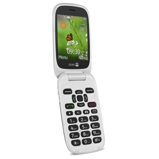 """Doro PhoneEasy 6530 7.11 cm (2.8"""") 108 g Black,White Entry-level phone"""