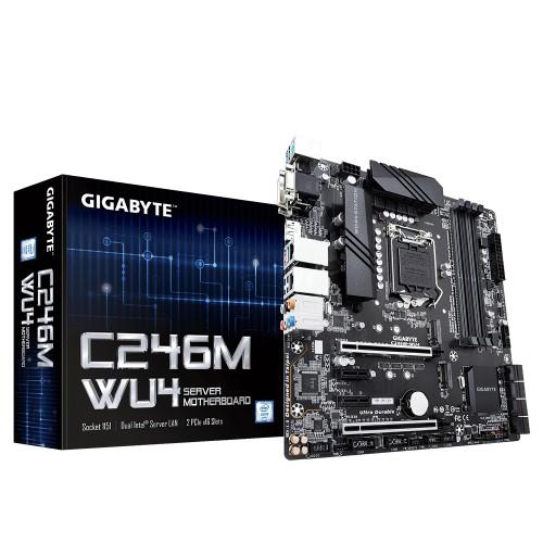 Gigabyte C246M-WU4 server/workstation motherboard LGA 1151 (Socket H4) Micro ATX Intel C246 Express