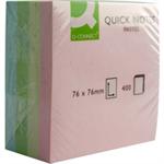 Q-CONNECT Q CONNECT QUICK NOTE CUBE 76X76MM PASTEL