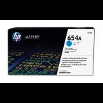 HP 654A Origineel Cyaan 1 stuk(s)
