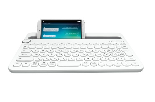 Logitech K480 mobile device keyboard QWERTY US International Grey,White Bluetooth