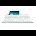 Logitech K480 mobile device keyboard QWERTY US International Grey,White Bluetooth