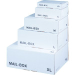 LSM White Mailing Box  325x245x105mm Size M White PK20