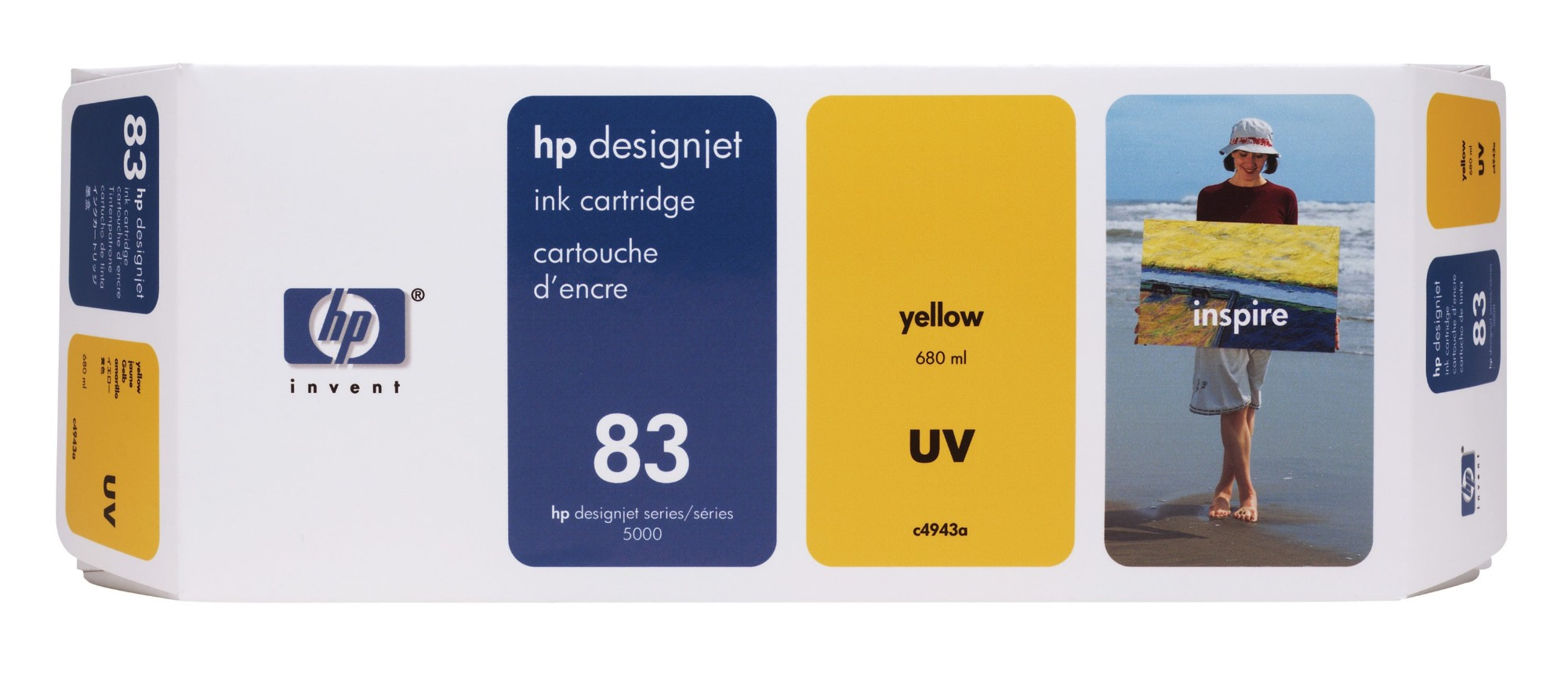 HP C4943A (83) Ink cartridge yellow, 680ml