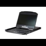 "Aten CL3108 rack console 47 cm (18.5"") 1366 x 768 pixels Metal, Plastic Black 1U"