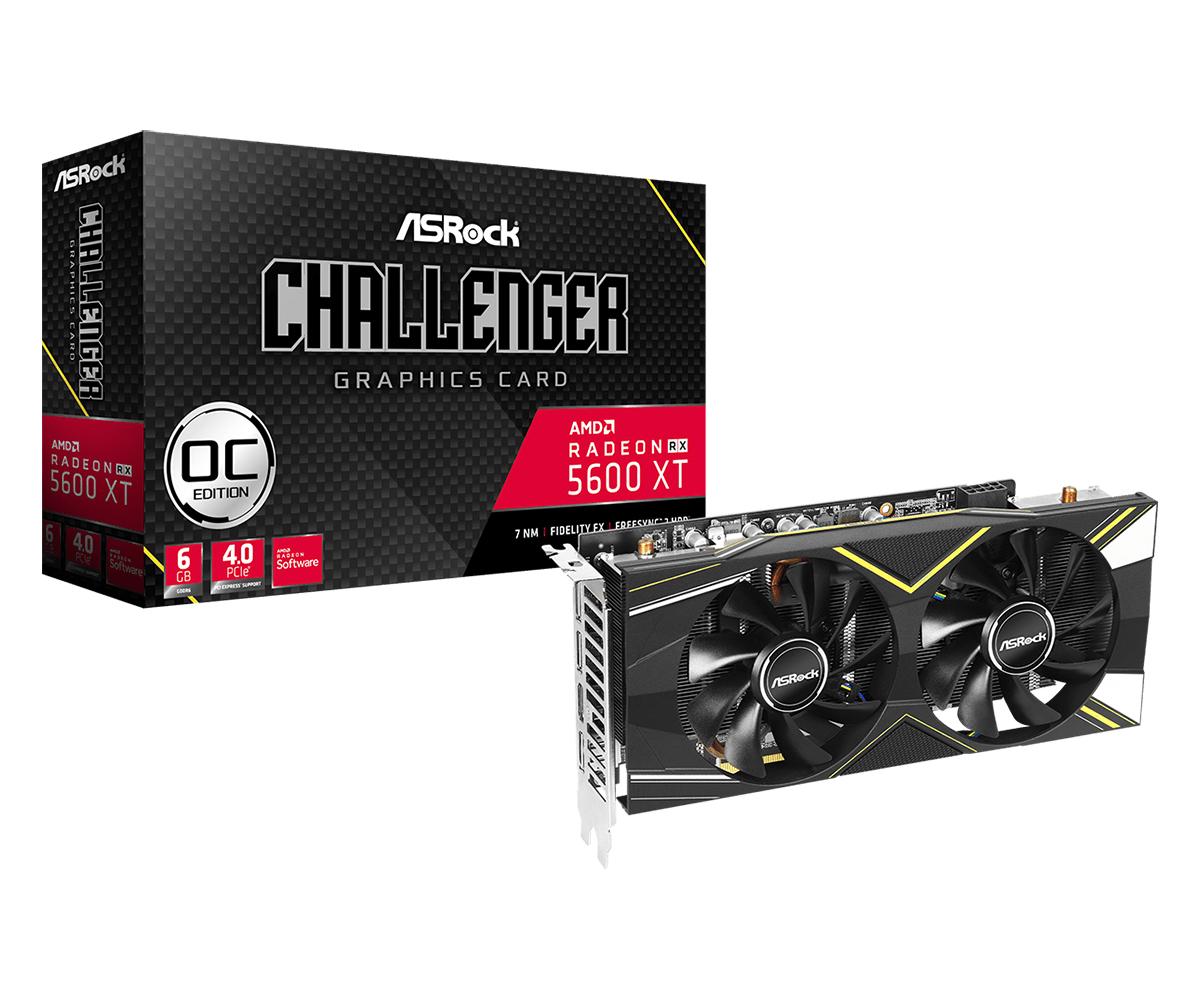 Graphics Card Radeon Rx 5600 Xt Challenger D 6g Oc 3 X DisplayPort / 1 X Hdmi (90-ga1xzz-00uanf)