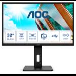 """AOC Pro-line Q32P2 computer monitor 80 cm (31.5"""") 2560 x 1440 pixels 2K Ultra HD LED Black"""