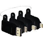 Vision TC-MULTIHDMI/BL cable gender changer mDP/DP/mHDMI/USB-C HDMI Schwarz