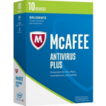 McAfee AntiVirus Plus 2018 Base license 10 license(s) 1 year(s)