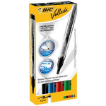 BIC Velleda Liquid Ink Pocket Bullet tip Black,Blue,Green,Red 4pc(s) marker