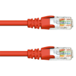 FDL 1M CAT.6a 10Gb S-FTP LSZH PATCH CABLE - RED