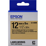 Epson C53S654020 (LK-4KBM) DirectLabel-etikettes, 12mm x 9m