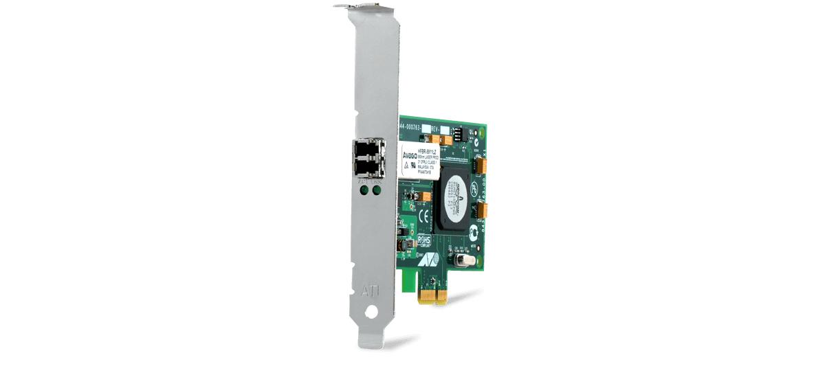 PCI-EXPRESS FIBER ADAPTER CARD WOL SFP FED 100FX/1G LF TAA      IN
