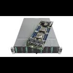 "Intel VRN2224THY6 Intel® C612 LGA 2011-v3 Custom 6.8"" x 18.9"" Black, Silver server barebone"