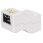 Intellinet Inline Coupler, Cat6, UTP, Locking Function, White