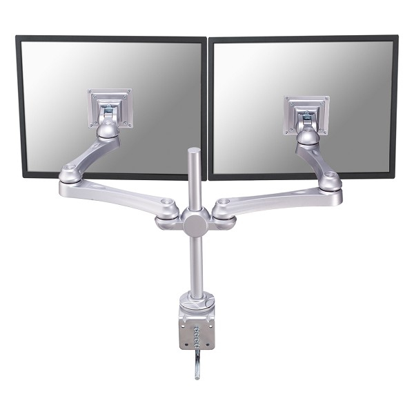 LCD Monitor Arm (fpma-d930d) Desk Clamp And Wall Mount 621.5mm Length 0-400mm Hight For 2 Silver