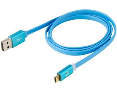 Scosche EZFLBL 0.9m USB A Micro-USB B Male Male Blue USB cable