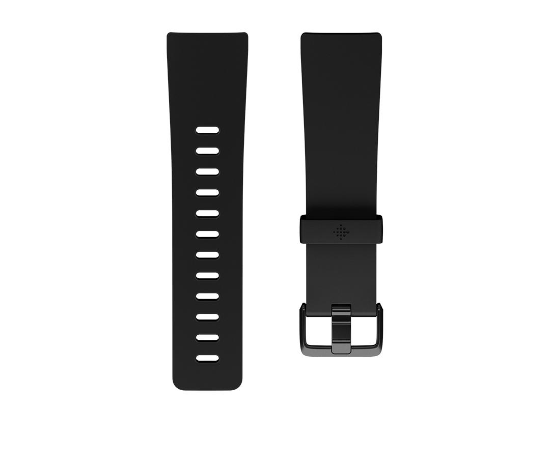 Fitbit Versa Classic L Band Black Elastomer