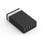 i-tec CHARGER5P40WUK mobile device charger Indoor Black,Silver