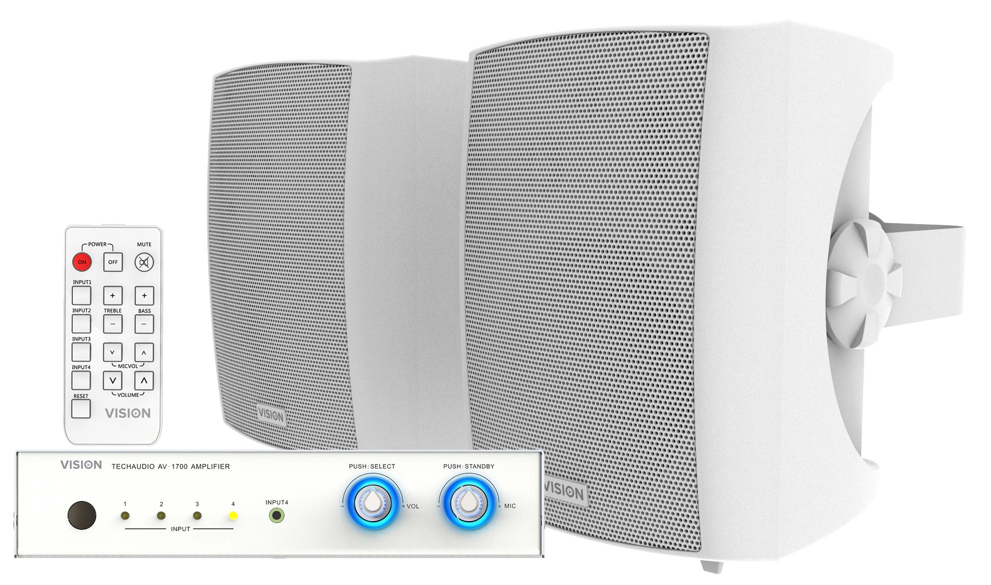Vision AV-1700+SP-1800 audio amplifier
