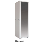 "Intellinet Network Cabinet - Free Standing (Basic), 22U, 800mm Deep, Grey, Flatpack, Max 600kg, Server Rack, 19"", Single-Point Door Lock, Three Year Warranty"