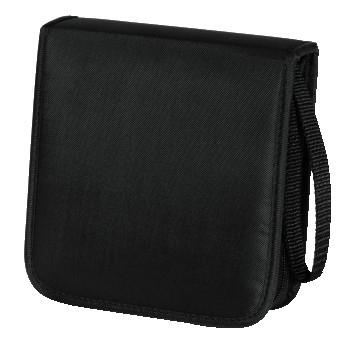 Hama CD Wallet Nylon 20, black 20discs Black