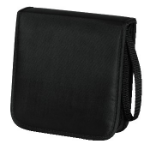 Hama CD Wallet Nylon 20, black 20discs Black