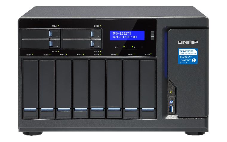 QNAP TVS-1282T3 i7-7700 Ethernet LAN Tower Black NAS