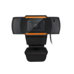 Adesso CyberTrack H2 webcam 640 x 480 pixels USB 2.0 Black,Orange