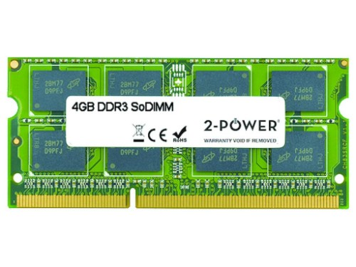 2-Power 4GB MultiSpeed 1066/1333/1600 MHz SoDIMM Memory - replaces 0B47380