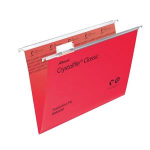 Rexel Crystalfile Classic Foolscap Suspension File 15mm Red (50)