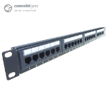 CONNEkT Gear 24 Port Patch Panel (CAT5e) IDC Punch Down 19 inch + Lacing Bar
