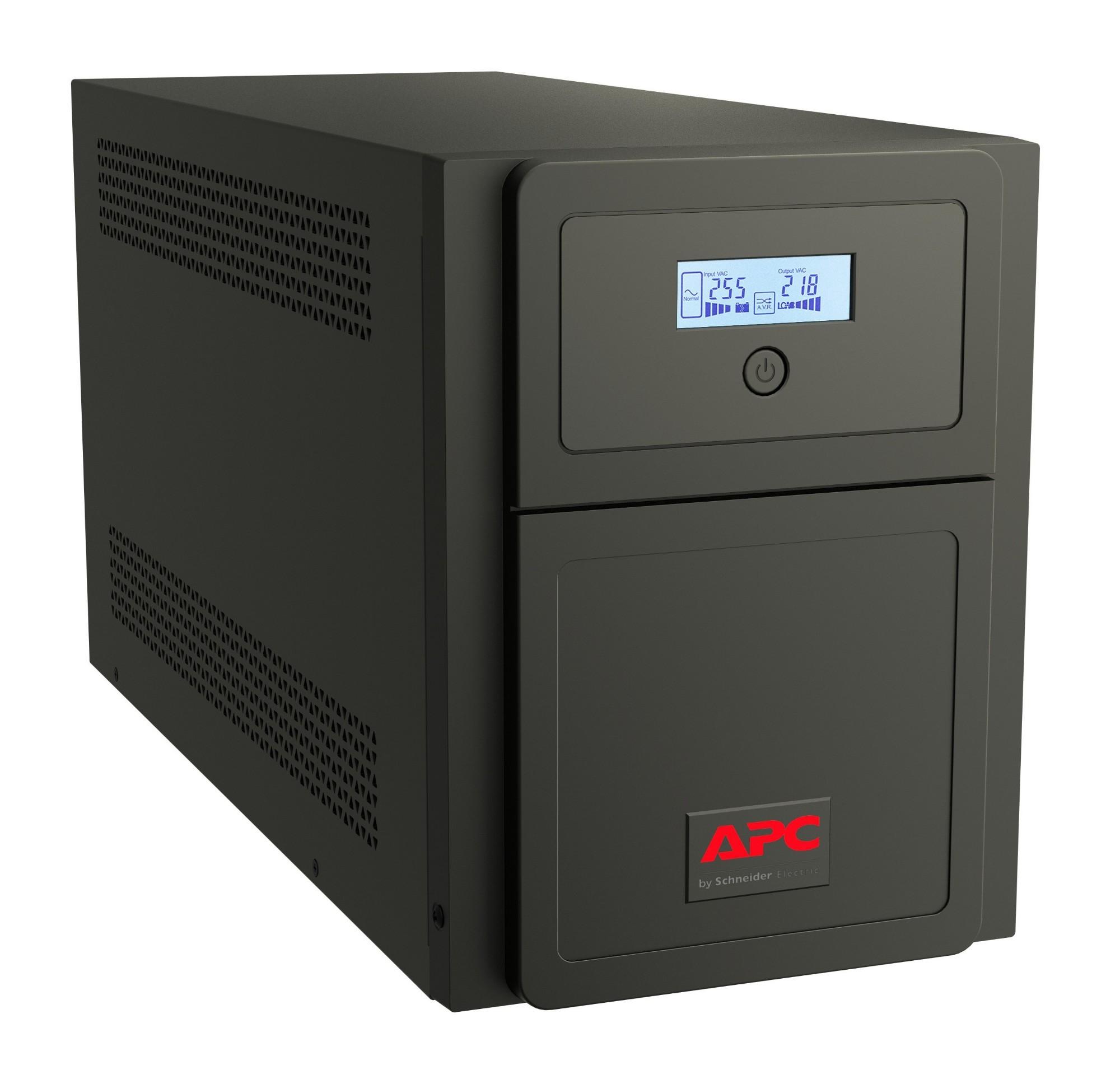 APC Easy UPS SMV sistema de alimentación ininterrumpida (UPS) Línea interactiva 3000 VA 2100 W 6 salidas AC