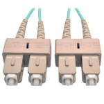 Tripp Lite 10Gb Duplex Multimode 50/125 OM3 LSZH Fiber Patch Cable (SC/SC) - Aqua, 10M