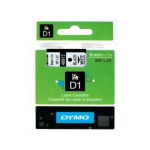 DYMO D1 (SD40913/S0720680) Label Cassette, 9mm x 7m - Black on White