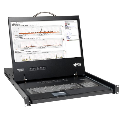 Tripp Lite NetController 16-Port 1U Rack-Mount Console KVM Switch with 19-in. LCD