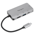 Targus DOCK418EUZ notebook dock & poortreplicator Bedraad USB 3.2 Gen 1 (3.1 Gen 1) Type-C Grijs