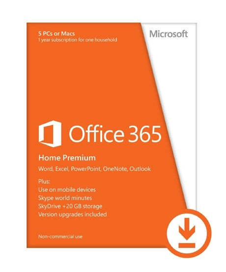 Microsoft Office 365 Home Premium 5user(s) 1year(s) Multilingual